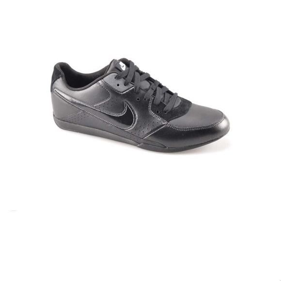 Black Leather Men's Sneakers, Nike Trickster, 42